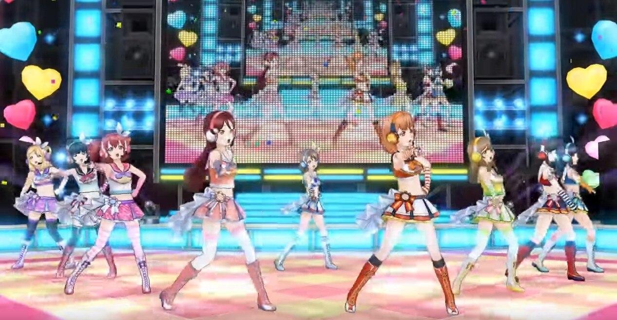 フォーメーションダンスによるライブ