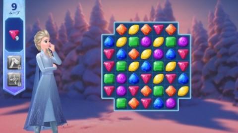 同じ形の水晶を消すマッチ3パズル