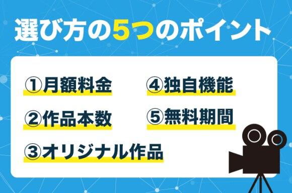 動画配信サービス5つの選び方