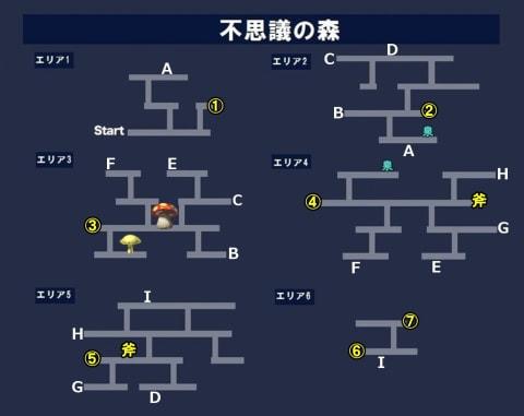 不思議の森_第一の記述マップ