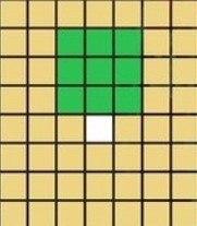 正面3×3マス