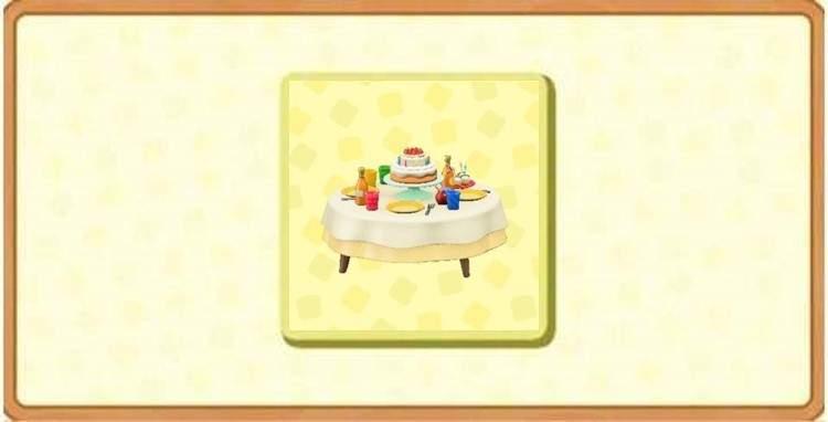 バースデーテーブルの入手方法とDIYレシピ