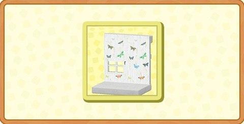 バタフライなかべがみの入手方法とDIYレシピ