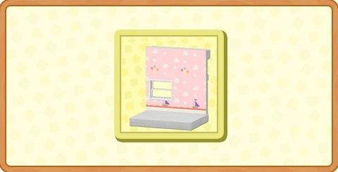 ピンクのキッズルームのかべがみの入手方法とDIYレシピ