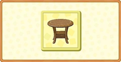ラタンのサイドテーブルの入手方法とDIYレシピ