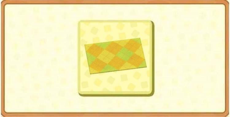 きいろいアーガイルのラグの入手方法とDIYレシピ