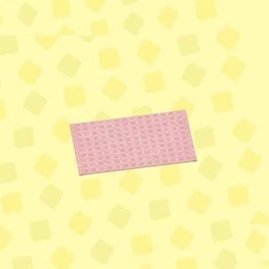 ピンクのシンプルバスマット