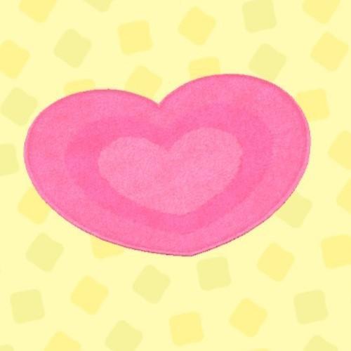 ピンクハートのラグ
