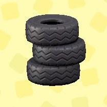 つまれたタイヤ