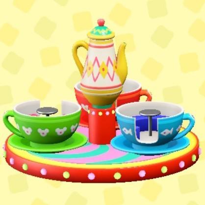 まわるコーヒーカップ