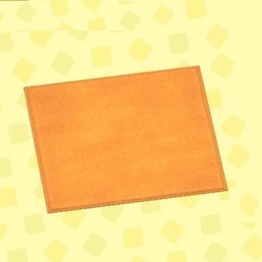オレンジのシンプルマット・M
