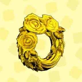 きんのバラのリース