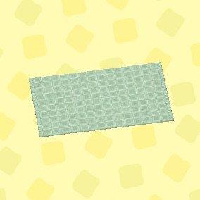 グリーンのシンプルバスマット