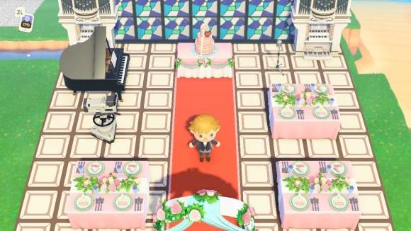 屋外の結婚式会場