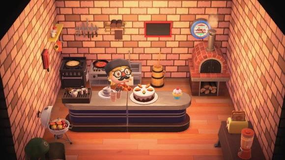 レンガキッチン