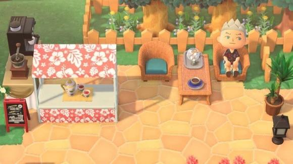 リゾートスタイルのカフェ