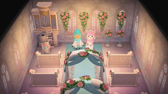 室内の結婚式会場