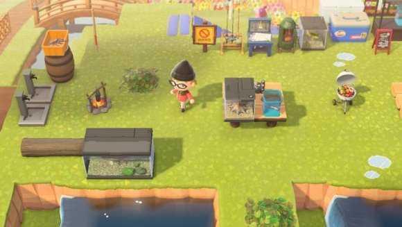 山間のキャンプ場