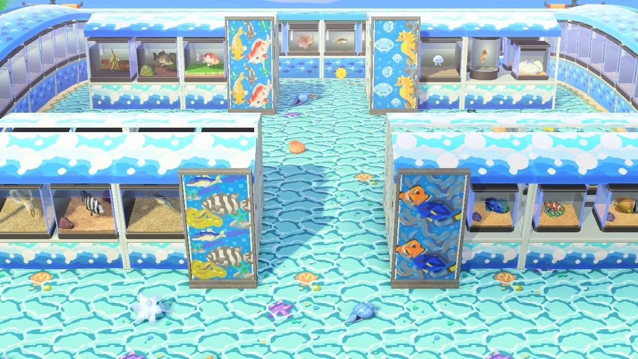 魚と海の幸の展示コーナー