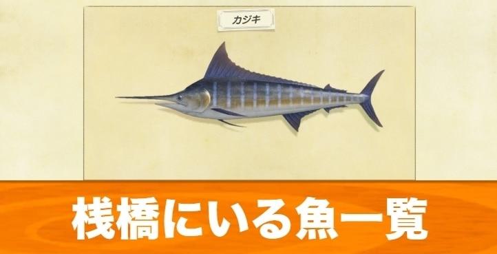桟橋で釣れる魚と出現時間|桟橋の判定条件
