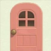 ピンクなまどつきのドア