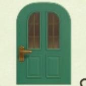 きみどりのたてながまどのドア