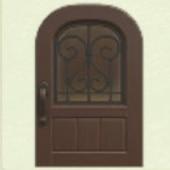 こげちゃのアイアングリルのドア