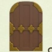 ちゃいろいわふうなドア