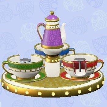 まわるコーヒーカップ紫