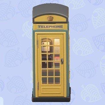 電話ボックス黄