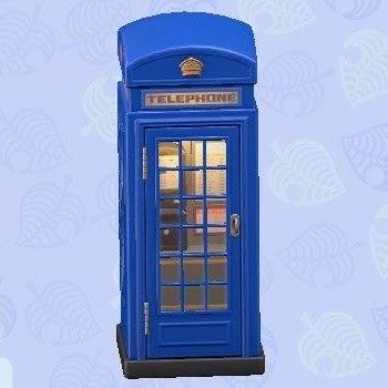 電話ボックス青