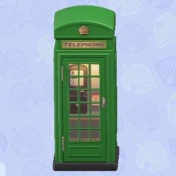 電話ボックス緑