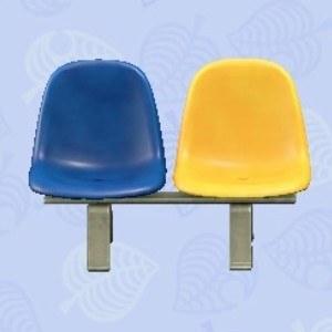 パブリックベンチ青黄