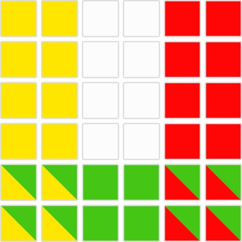 風水の色判定6x6