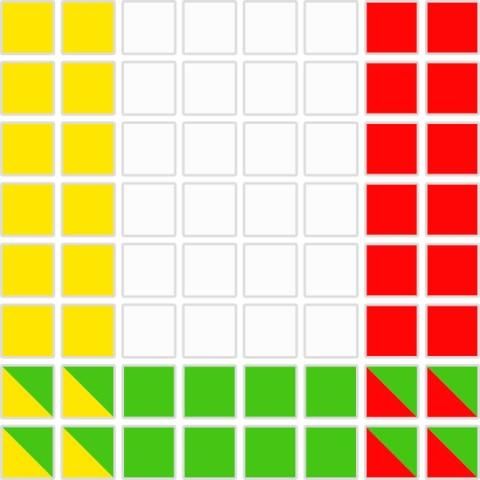 風水の色判定8x8