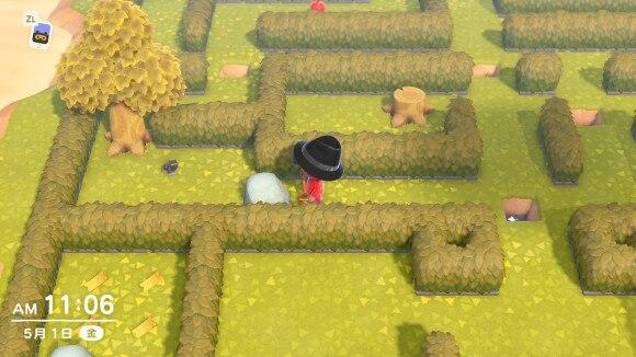 メーデー迷路。マップ左下の岩を破壊して鉄鉱石を入手