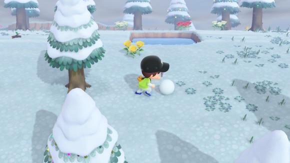 雪玉を転がす