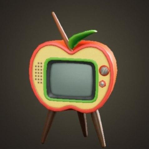 リンゴのテレビ