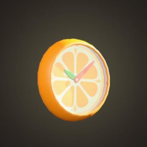 オレンジのかべかけどけい