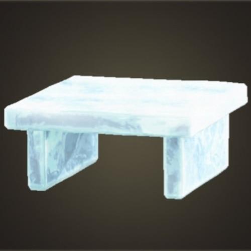 こおりのテーブル