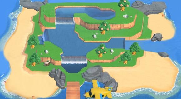 滝が4つある島