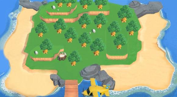 木がたくさんの島