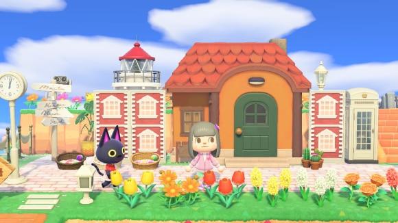 お洒落な住宅街風な家