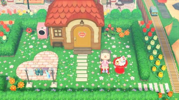 可愛いお庭のお家