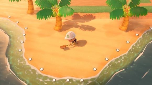 浜辺は島クリエイトできない