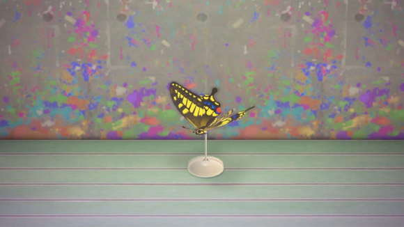 アゲハチョウの模型