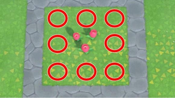 花の交配配置