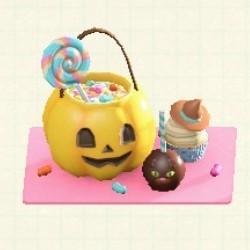お菓子プレートイエロー