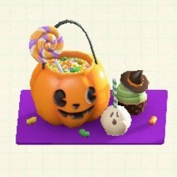 お菓子プレートオレンジ
