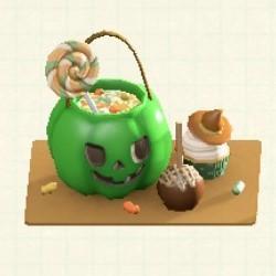 お菓子プレートグリーン